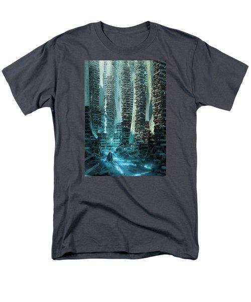 Ancient Library V1 Men's T-Shirt  (Regular Fit) by Te Hu