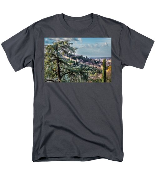 Men's T-Shirt  (Regular Fit) featuring the photograph Ancient Walls Of Florence by Sonny Marcyan