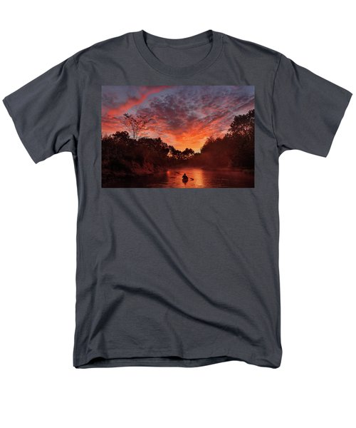 And The Day Begins Men's T-Shirt  (Regular Fit) by Robert Charity
