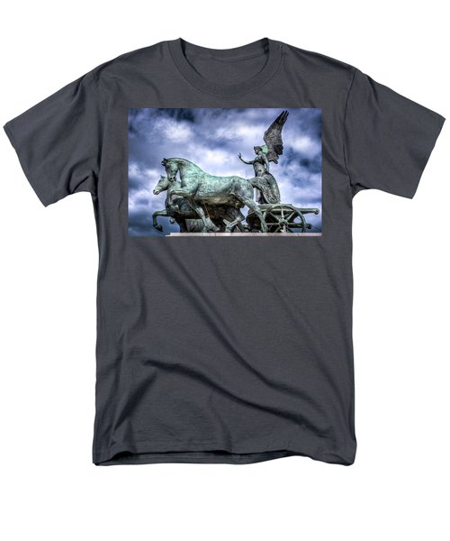 Men's T-Shirt  (Regular Fit) featuring the photograph Angel And Chariot With Horses by Sonny Marcyan
