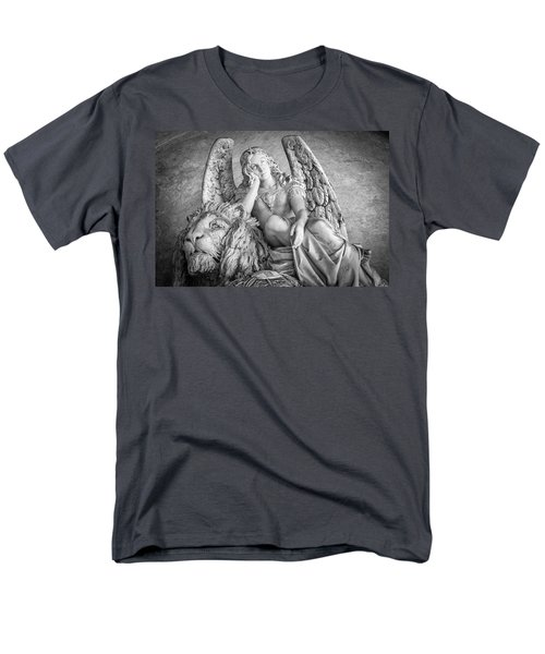 Angel And Lion Men's T-Shirt  (Regular Fit)