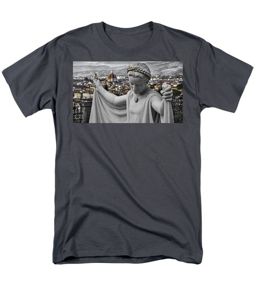 Men's T-Shirt  (Regular Fit) featuring the photograph Angel Of Florence by Sonny Marcyan