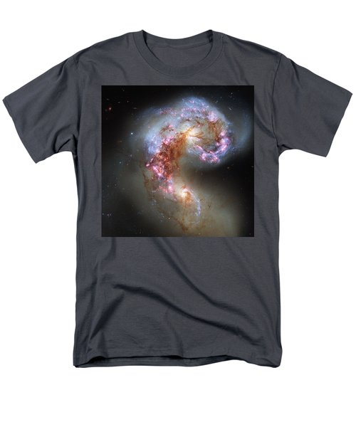 Men's T-Shirt  (Regular Fit) featuring the photograph Antennae Galaxies Reloaded by Nasa