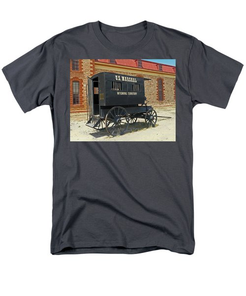 Antique U.s Marshalls Wagon Men's T-Shirt  (Regular Fit) by Sally Weigand