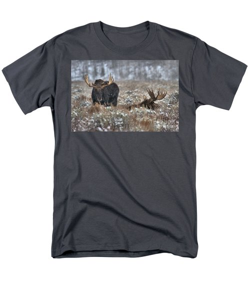 Men's T-Shirt  (Regular Fit) featuring the photograph Antlers In The Brush by Adam Jewell