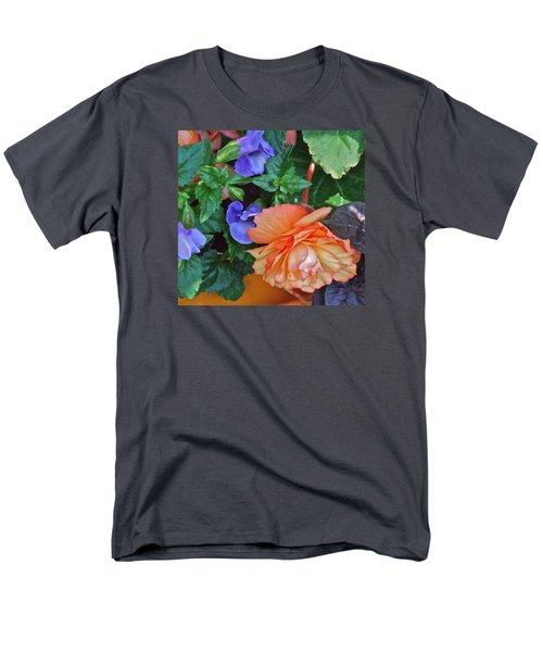 Apricot Begonia 1 Men's T-Shirt  (Regular Fit) by Janis Nussbaum Senungetuk