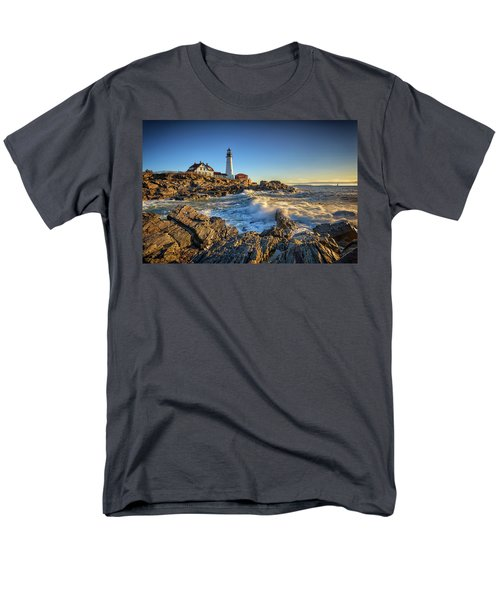 Men's T-Shirt  (Regular Fit) featuring the photograph April Morning At Portland Head by Rick Berk