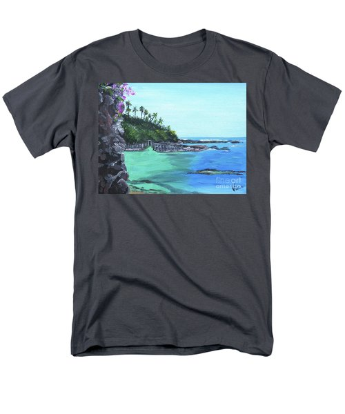 Men's T-Shirt  (Regular Fit) featuring the painting Aqua Passage by Judy Via-Wolff