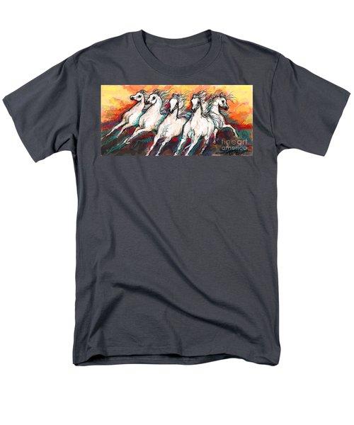 Arabian Sunset Horses Men's T-Shirt  (Regular Fit) by Stacey Mayer