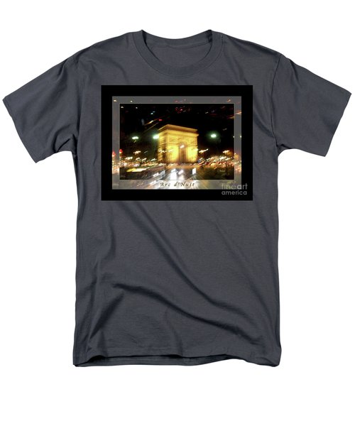 Arc De Triomphe By Bus Tour Greeting Card Poster V1 Men's T-Shirt  (Regular Fit) by Felipe Adan Lerma