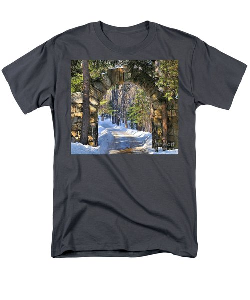 Men's T-Shirt  (Regular Fit) featuring the photograph Archway To Winter by Debbie Stahre