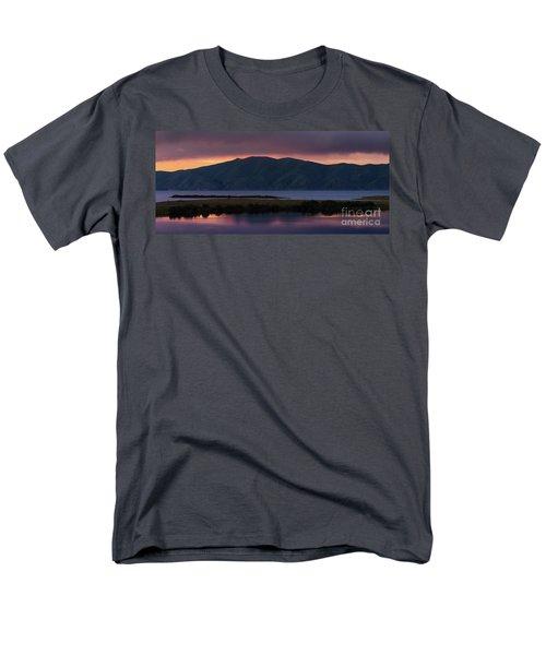 Aregunyats Range And Sevan Lake At Sunset, Armenia Men's T-Shirt  (Regular Fit) by Gurgen Bakhshetsyan