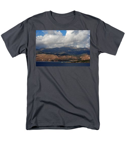 Men's T-Shirt  (Regular Fit) featuring the photograph Argostoli Mountains by Robert Moss