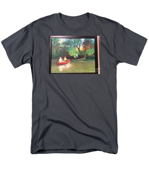 Men's T-Shirt  (Regular Fit) featuring the painting Arkansas River Float by Marcia Dutton