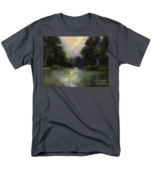 Men's T-Shirt  (Regular Fit) featuring the painting Around The Bend by Marlene Book