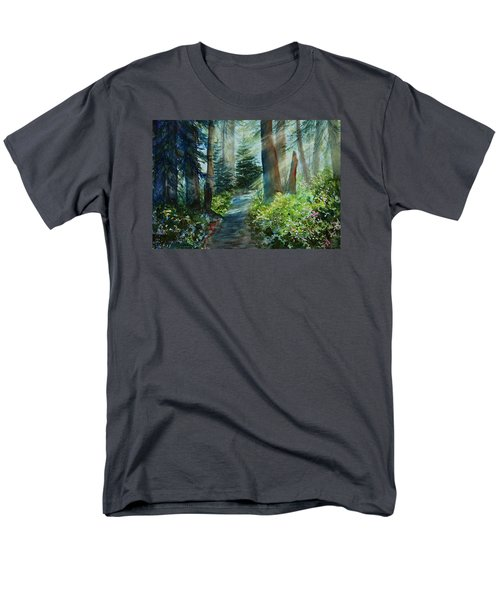Around The Path Men's T-Shirt  (Regular Fit) by Kerri Ligatich