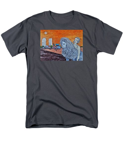 Men's T-Shirt  (Regular Fit) featuring the painting Arrival To San Diego by Jasna Gopic