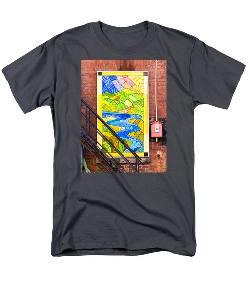 Art And The Fire Escape Men's T-Shirt  (Regular Fit) by Tom Singleton
