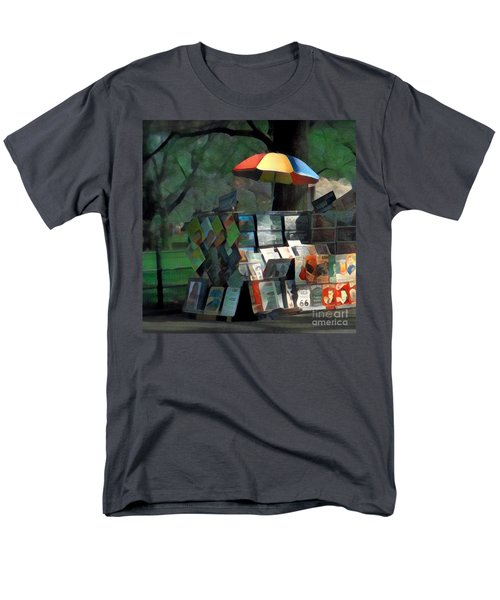 Art In The Park - Central Park New York Men's T-Shirt  (Regular Fit) by Miriam Danar