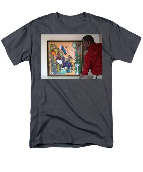 Artist Darrell Black With Dominions Creation Of A New Millennium Men's T-Shirt  (Regular Fit) by Darrell Black