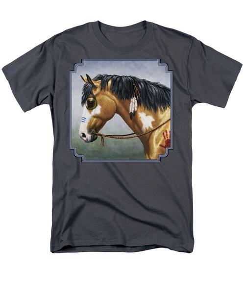 Buckskin Native American War Horse Men's T-Shirt  (Regular Fit) by Crista Forest