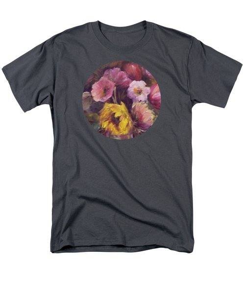 Abundance- Floral Painting Men's T-Shirt  (Regular Fit) by Mary Wolf
