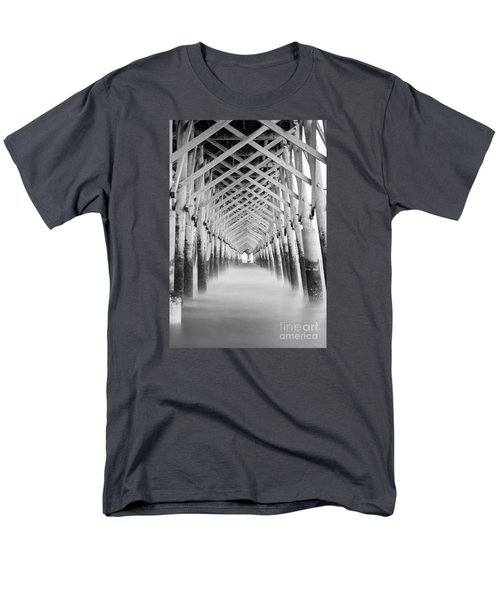 As The Water Fades Grayscale Men's T-Shirt  (Regular Fit) by Jennifer White