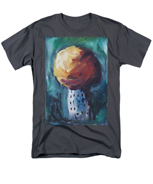 Men's T-Shirt  (Regular Fit) featuring the painting Aspen Bolitas Mushroom by Yulia Kazansky