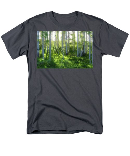 Men's T-Shirt  (Regular Fit) featuring the photograph Aspen Morning 3 by Marie Leslie