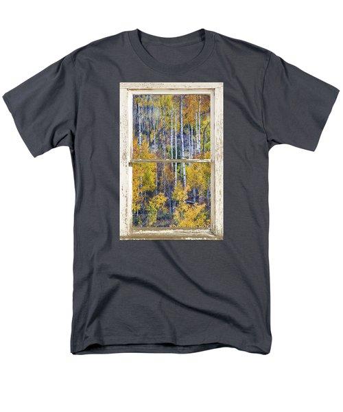 Aspen Tree Magic Cottonwood Pass White Farm House Window Art Men's T-Shirt  (Regular Fit) by James BO  Insogna