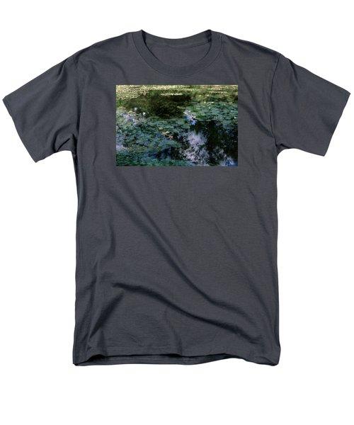 Men's T-Shirt  (Regular Fit) featuring the photograph At Claude Monet's Water Garden 10 by Dubi Roman