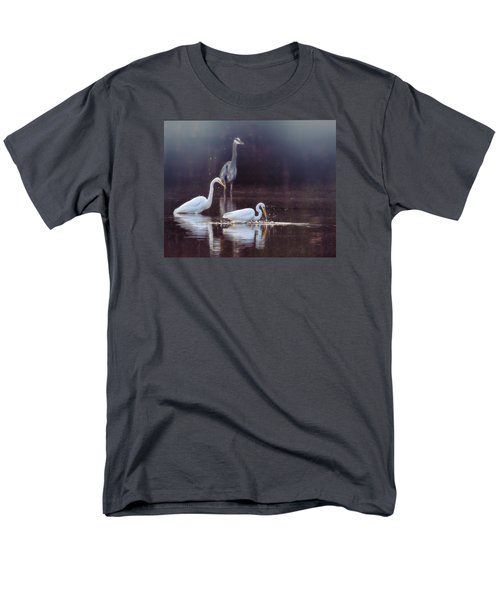 Men's T-Shirt  (Regular Fit) featuring the photograph At The Fishing Pond by Susi Stroud
