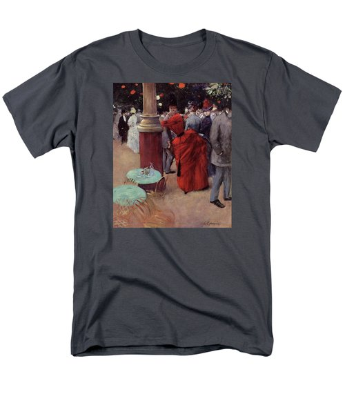 At The Public Garden Men's T-Shirt  (Regular Fit) by Jean Louis Forain
