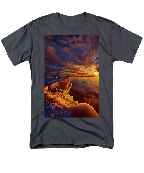 Men's T-Shirt  (Regular Fit) featuring the photograph At World's End by Phil Koch