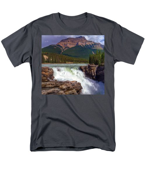 Athabasca Falls Men's T-Shirt  (Regular Fit) by Heather Vopni