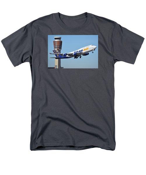 Atlas Air Boeing 747-446 N465mc Phoenix Sky Harbor January 12 2015 Men's T-Shirt  (Regular Fit) by Brian Lockett