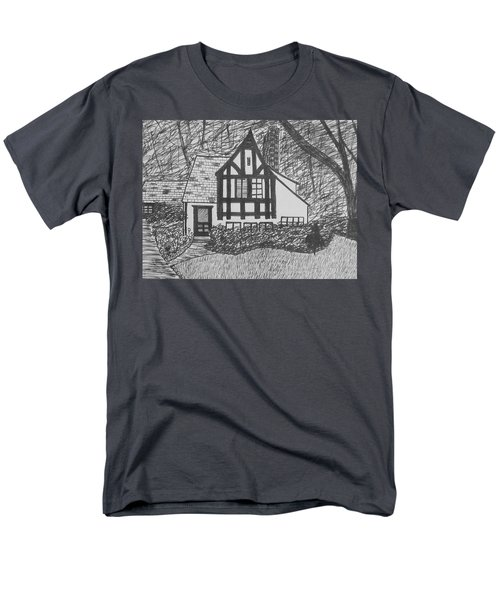 Men's T-Shirt  (Regular Fit) featuring the drawing Aunt Vizy's House by Lenore Senior