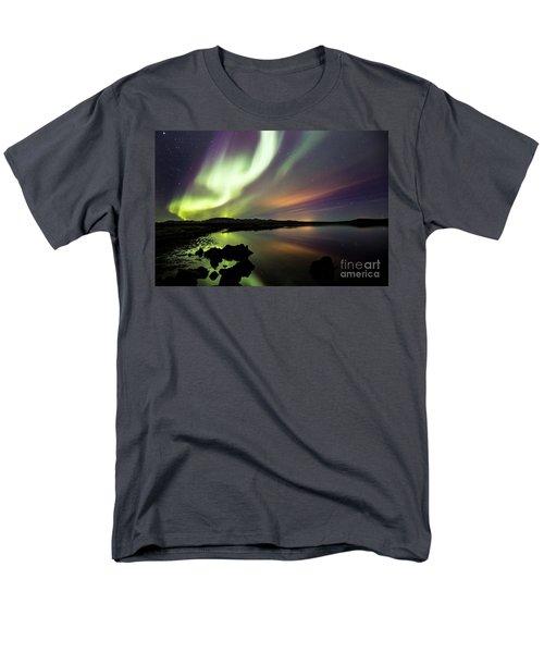 Aurora Borealis Over Thinvellir Men's T-Shirt  (Regular Fit) by Gunnar Orn Arnason