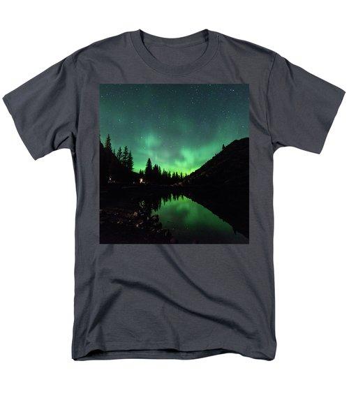 Aurora On Moraine Lake Men's T-Shirt  (Regular Fit) by Alex Lapidus