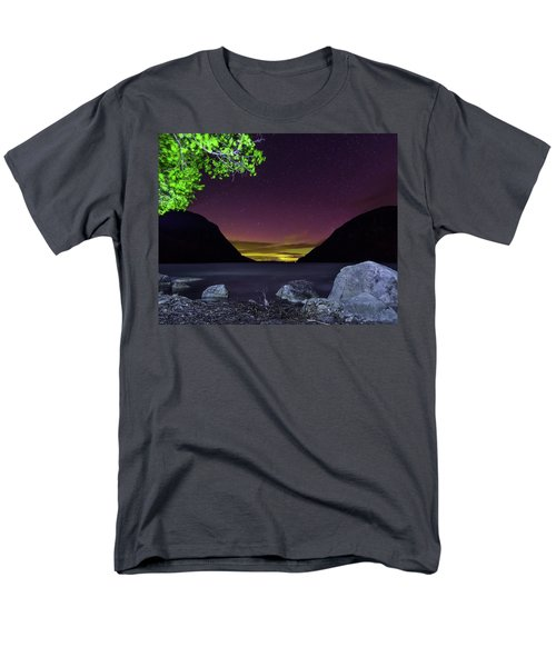 Aurora Over Lake Willoughby Men's T-Shirt  (Regular Fit) by Tim Kirchoff
