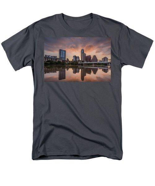 Austin Skyline Sunrise Reflection Men's T-Shirt  (Regular Fit) by Todd Aaron