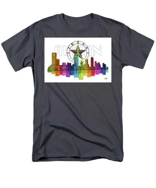 Austin Texas Skyline Men's T-Shirt  (Regular Fit) by Doug Kreuger