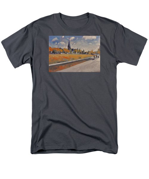 Men's T-Shirt  (Regular Fit) featuring the painting Autumn Along The Griend by Nop Briex