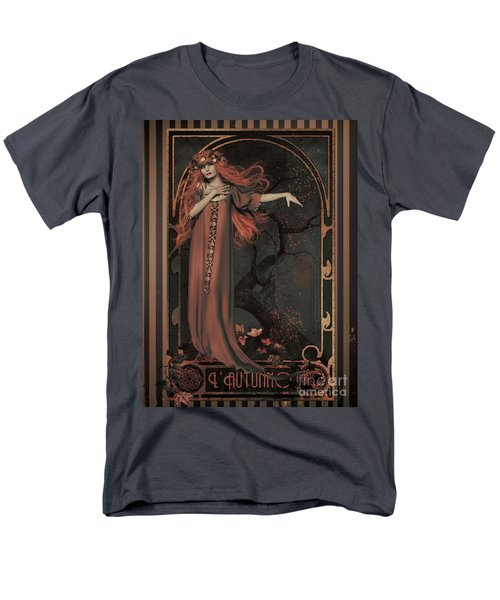 Men's T-Shirt  (Regular Fit) featuring the digital art Autumn Art Nouveau  by Shanina Conway