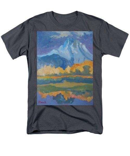 Autumn At Mt. Moran Men's T-Shirt  (Regular Fit) by Francine Frank