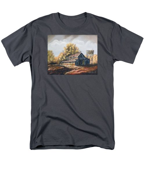 Men's T-Shirt  (Regular Fit) featuring the painting Autumn Barnyard by Sherril Porter
