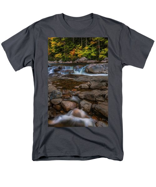 Men's T-Shirt  (Regular Fit) featuring the photograph Autumn Colors In White Mountains New Hampshire by Ranjay Mitra