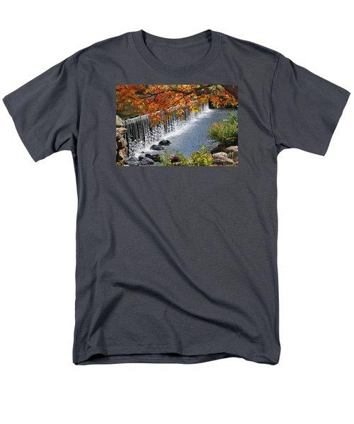 Men's T-Shirt  (Regular Fit) featuring the photograph Autumn Dam by Debbie Stahre
