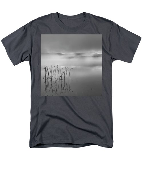 Men's T-Shirt  (Regular Fit) featuring the photograph Autumn Fog Black And White Square by Bill Wakeley
