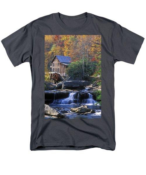 Autumn Grist Mill - Fs000141 Men's T-Shirt  (Regular Fit) by Daniel Dempster